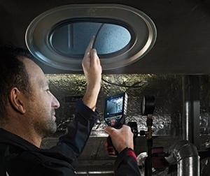 Bosch Professional GIC 120 C Akku-Inspektionskamera, 1x1,5 Ah Akku, 4GB MicroSD Karte, Micro-USB-Kabel, GIC Kamerakabel, LED-Licht, 10,8 V, L-Boxx, 0601241201 - 2