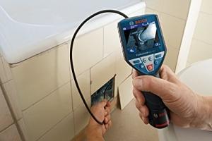 Bosch Professional GIC 120 C Akku-Inspektionskamera, 1x1,5 Ah Akku, 4GB MicroSD Karte, Micro-USB-Kabel, GIC Kamerakabel, LED-Licht, 10,8 V, L-Boxx, 0601241201 - 3