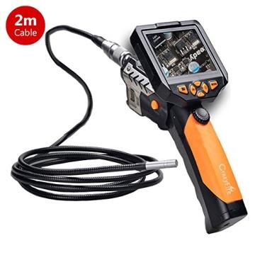 Crazyfire ® 3,5 Zoll LCD-Monitor-Endoskop-Kamera (2.01 meters/Probe Kabel 2 m, Durchmesser: 8,2 mm Endoskop mit 1 CREE LED-Taschenlampe, 0,3 MP Cmos-Kamera - 1