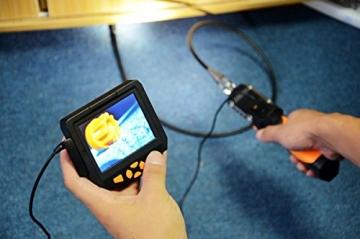 Crazyfire ® 3,5 Zoll LCD-Monitor-Endoskop-Kamera (2.01 meters/Probe Kabel 2 m, Durchmesser: 8,2 mm Endoskop mit 1 CREE LED-Taschenlampe, 0,3 MP Cmos-Kamera - 5