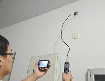 Crazyfire ® 3,5 Zoll LCD-Monitor-Endoskop-Kamera (2.01 meters/Probe Kabel 2 m, Durchmesser: 8,2 mm Endoskop mit 1 CREE LED-Taschenlampe, 0,3 MP Cmos-Kamera - 6