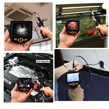 DBPOWER® 3,5 Zoll LCD Inspektionskamera 5.5mm Endoskop 3M Wasserdicht