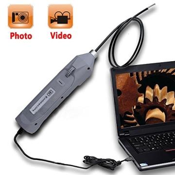DBPOWER 5.5MM Schlank-Endoskop IP67 Wasserdichtes Endoskop USB
