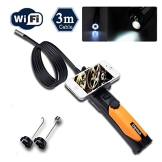 Depstech® HD 720P 6-LED-Handheld drahtlose Wifi Wasserdichte Inspektion Endoskop Borescope mit 2.0 Megapixel Inspection Kamera Video Soft Tube 3m für iPhone / Android Phone DENKJ0003 - 1